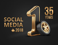 Technology Tire Social Media Designs