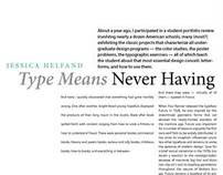 Article Layout Design