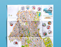Urban map of Elsene/Ixelles | hand-drawn