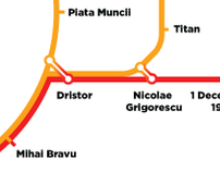 Bucharest subway diagram