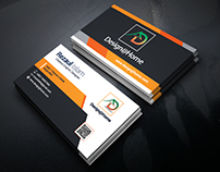 Business Card Black & Orange