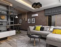 Studio Apartment Interior Design and Furniture Design