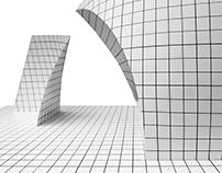 Deconstructivism in a spatial composition