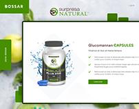 Supplement online store web design