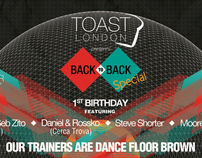 Toast London: Re-brand and event poster design