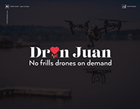 Dron Juan - No frills drones on demand - Logo Concept