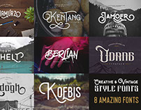 Creative & Vintage Style Fonts