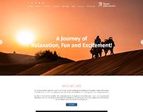 WEBSITE LAYOUT DESIGN - DESERT ADVENTURES