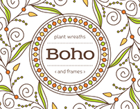 Boho - plant wreaths and frames