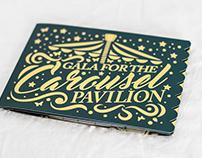 Carousel Pavilion Gold Foil Invite