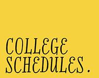 College Schedules