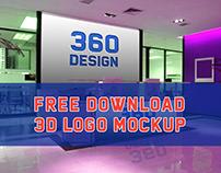 Free 3D Logo Mockup DOWNLOAD