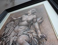 CHALK DRAWING (crayon) FORMAT 45x61 cm