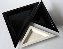 handmade triangle plates