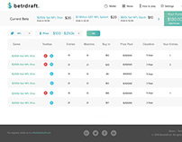 Betrdraft, A fantasy football Betting WebApp