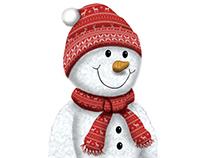 Snowman Illustration - Plush Design