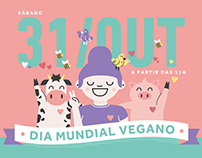 Cartaz: VegVeg (Dia Mundial Vegano)