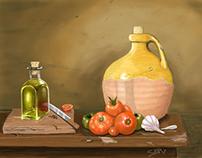 Vegies and oil