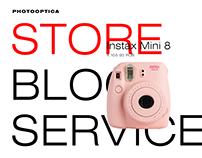 Photooptica Webstore & Identity