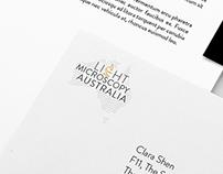 Light Microscopy Australia Logo Design 2016