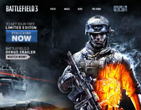 Battlefield 3 marketing microsite