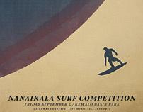 Nanaikala surf poster