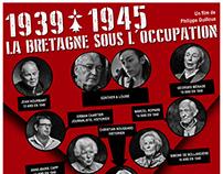 Affiche du film 1939-1945 La Bretagne sous l'occupation