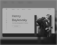 Home page for the photographer
