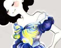 Fashion illustration - dyptic