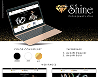 Website template for online jewelry store