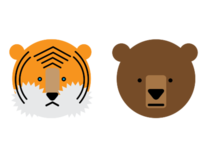 Logos Tigers and Bears