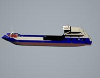 ro-ro cargo ship 3D Model