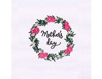 FLOWERS GARLAND MOTHERS DAY EMBROIDERY DESIGN