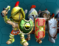 Armor sets for mobile game