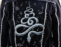 Custom painted snake jacket