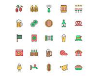 Oktoberfest Icons Set