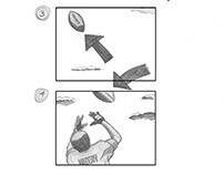 Storyboards for Victoria's Secret ad