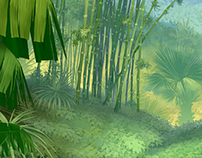 matte painting for the animated movie project