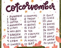 Cotcorvember: November Drawing Prompts