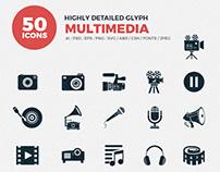 JI-Glyph Multimedia Icon Set
