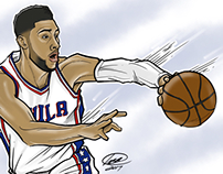 Ben Simmons Illustration