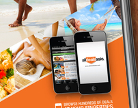 Magazine ad design for AllDealsAsia portal