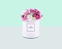 Flores, logo, flower delivery
