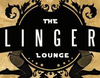The Linger Lounge logo design