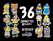 36 CHARACTER DESIGNS : BY 3LAND.