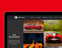 Mechanic WordPress Theme - Visualmodo iPad View