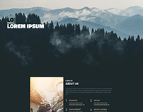 Business template, HTML+PSD Dark