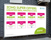 Poster Design | ZONG SUPER OFFERS | ZONG 4G A NEW DREAM