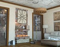 "Country Living Room - Киев, ЖК ""Липенка"""