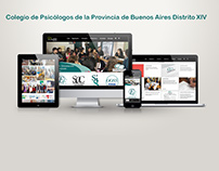 Responsive website for the Psychologists' Association